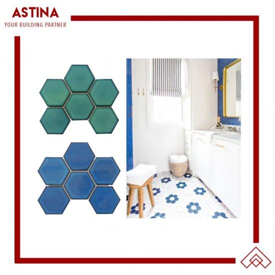 Mosaic Tiles Dekorasi Keramik Grande Hexagon 25,6 x 19,7 (95x110 mm)