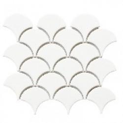 Mosaic Tiles Dekorasi Keramik Fan Glossy 25,5x21,9 (74.4x70 mm)