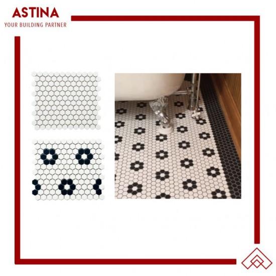 Mosaic Tiles Dekorasi Keramik Mini Hexagon 26 x 30 (23x26 mm)