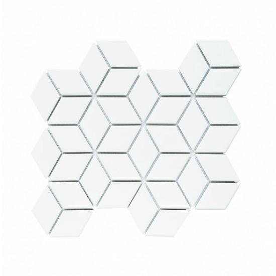 Mosaic Tiles Dekorasi Keramik Cube Glossy 26,75x30,9 cm (48x83 mm)