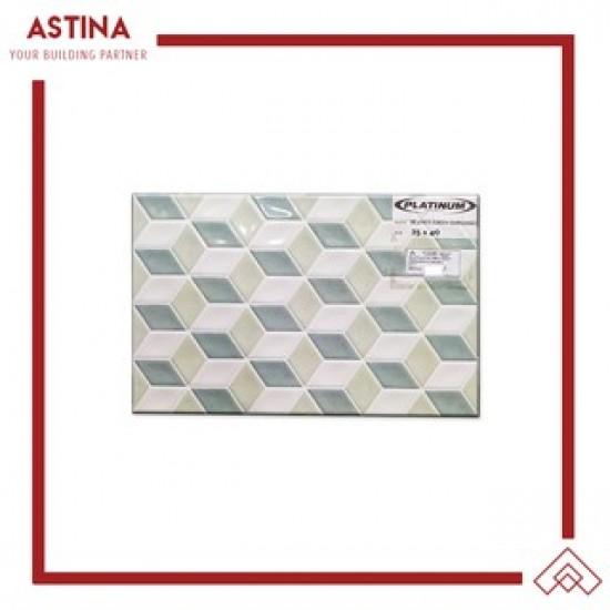 Keramik Platinum Beatrix Embossed 25x40