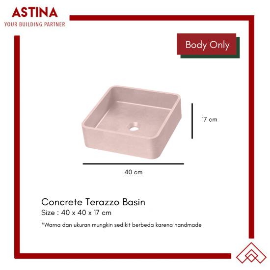 Wastafel Basin Bak Cuci Tangan Meja Kotak Concrete Teraso Minimalis Warna